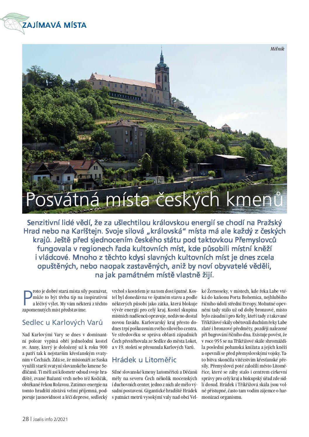 Článek o místech síly českých kmenů